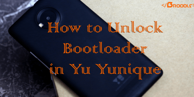 Unlock Bootloader in Yu Yunique