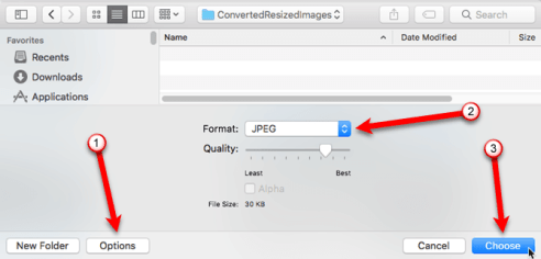 How to Resize Bulk Images at a Time in a Mac -2