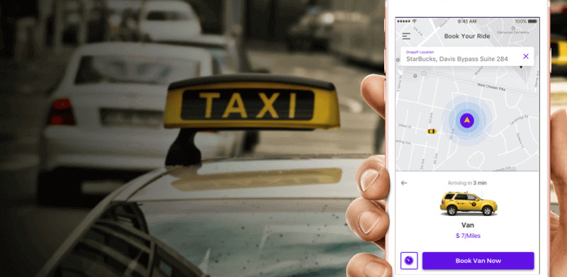 taxi app development solution