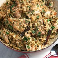 Ottolenghi's Chicken with Caramelized Onions & Cinnamon-Cardamom Rice