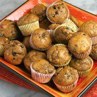Skinny Whole Wheat Pumpkin Banana Chocolate Chip Muffins