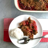 Old-Fashioned Strawberry-Rhubarb Crisp