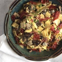 Pappardelle with Mushrooms & Prosciutto