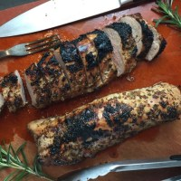 Coarse Mustard & Brown Sugar Glazed Pork Tenderloin