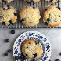 Blueberry Muffin Tops with Streusel Topping