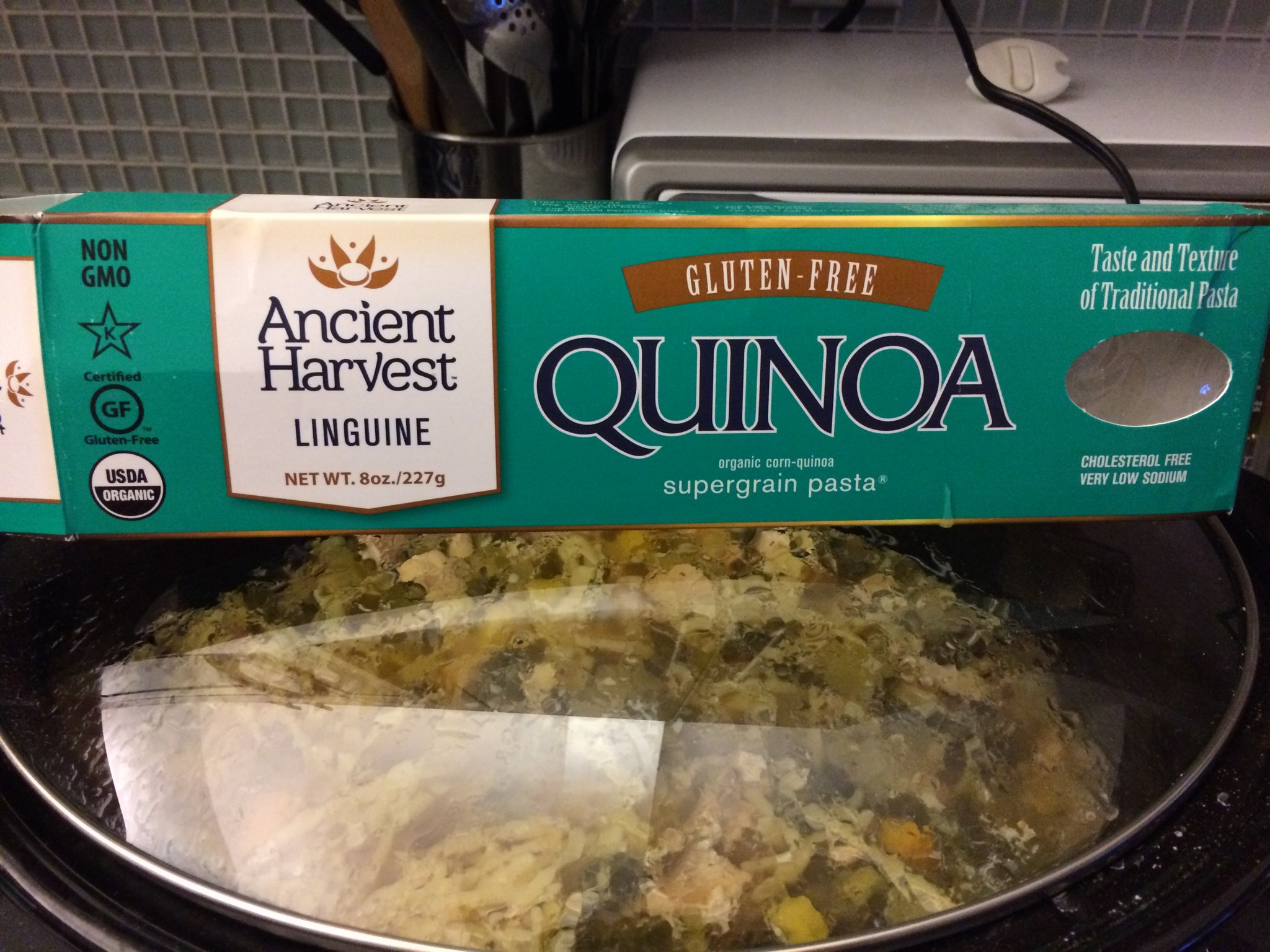 Quinoa linguini is a great alternative to traditional pasta