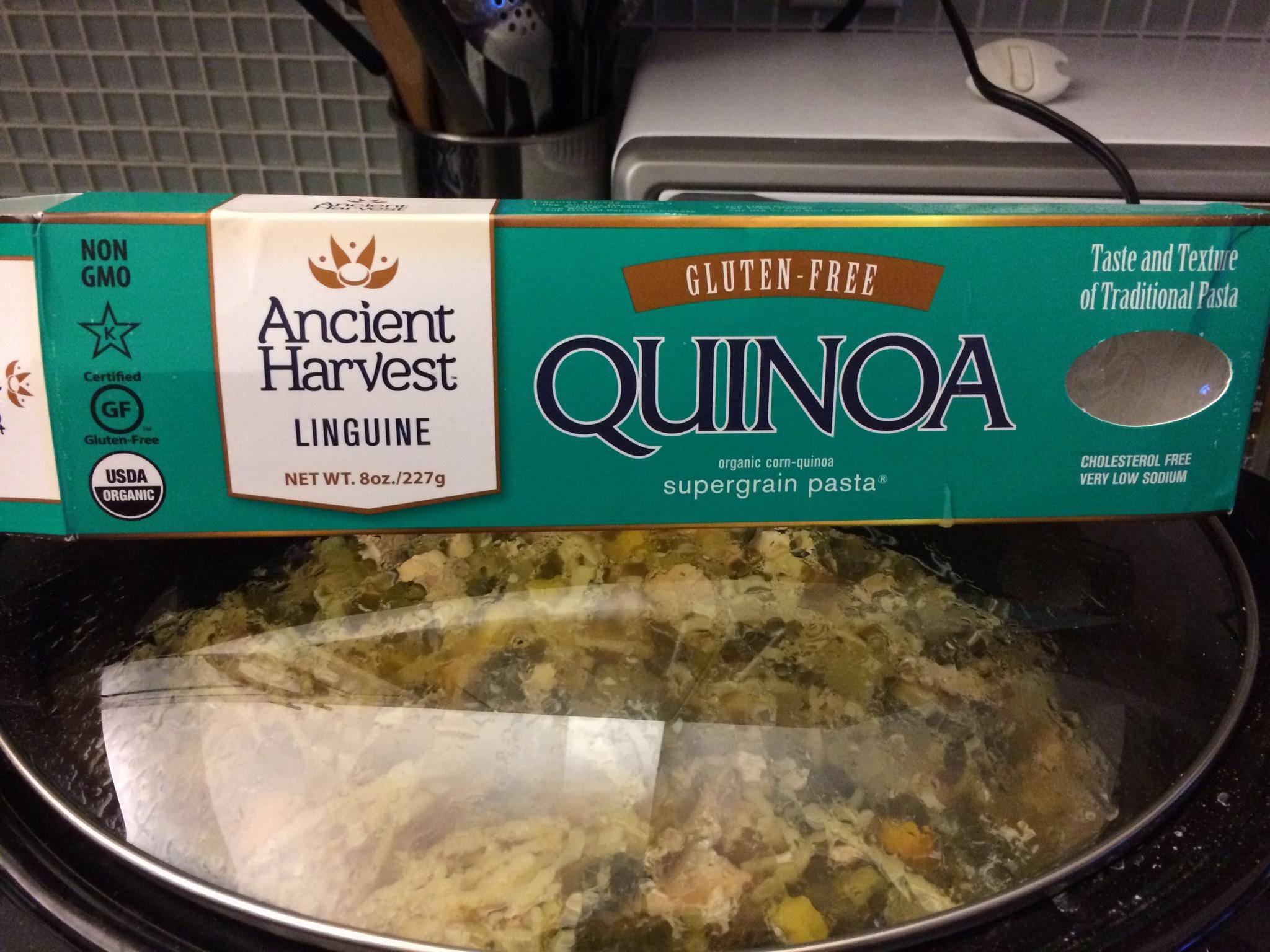Quinoa linguini is a great alternative to traditional pasta