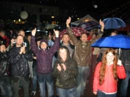 So ein Publikum wünscht man sich!, So ein Wetter nicht!!