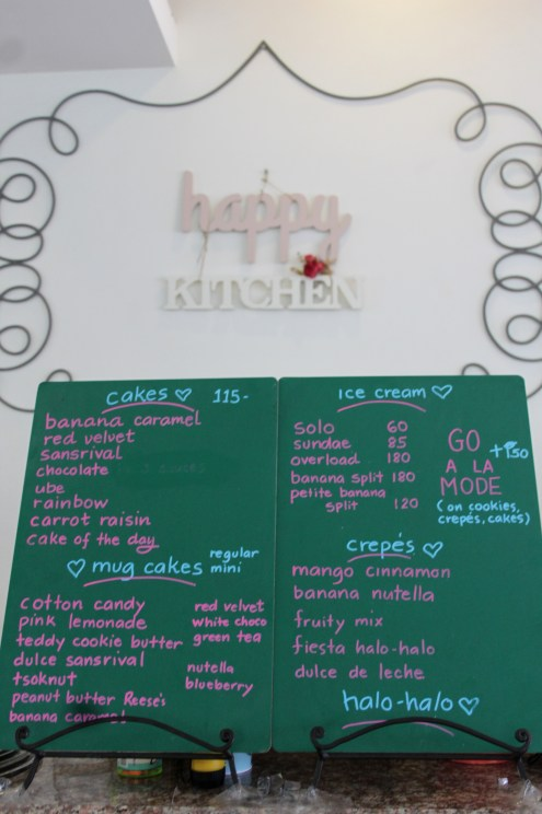 A portion of their Menu