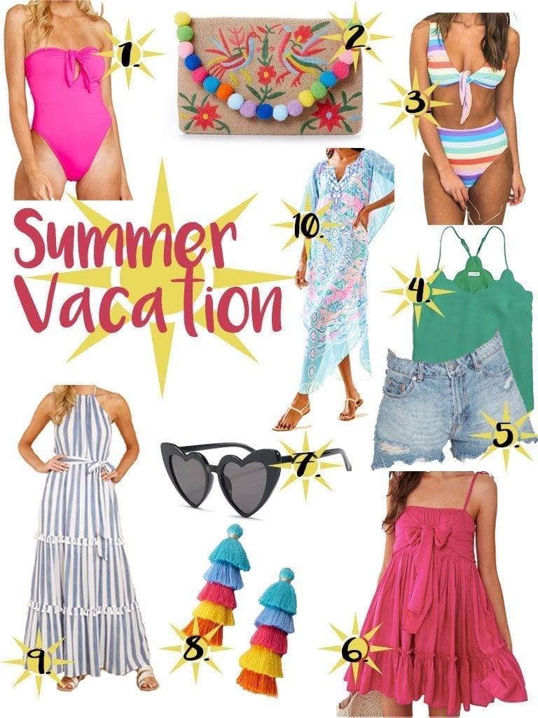 Summer Vacation Outfits The Brunette The Beach