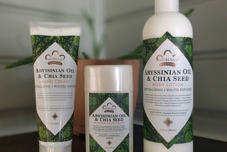 Nubian Heritage's Abyssinian & Chia Seed Collection