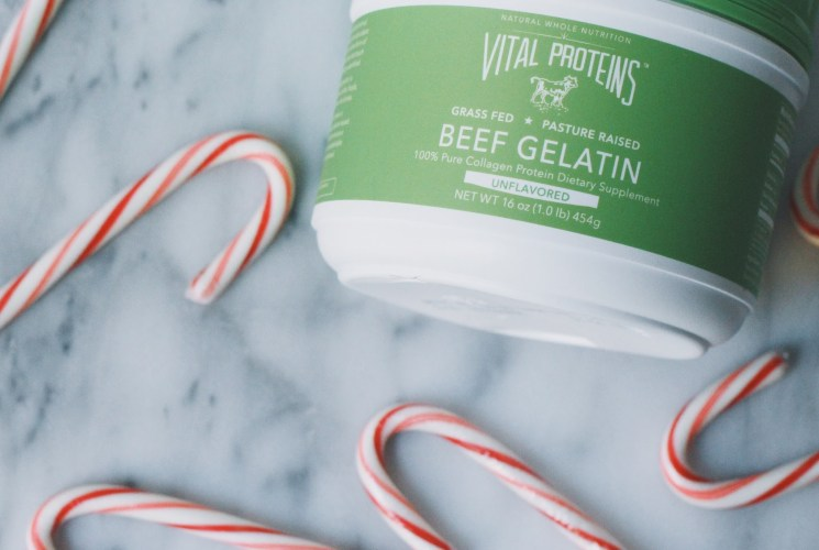 Vital Proteins Collagen Protein Beef Gelatin + DIY Candy Cane Lip Scrub!
