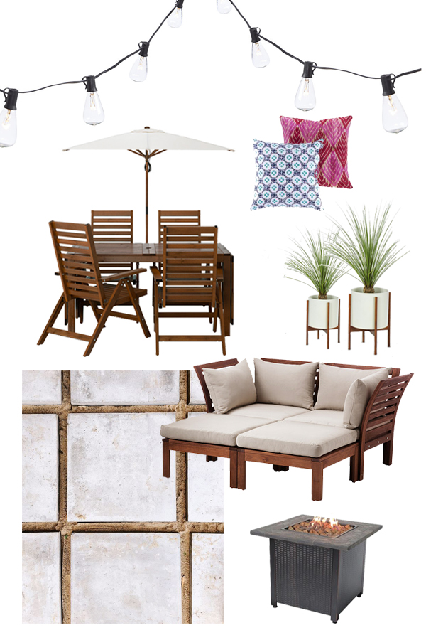Patio Inspiration with Ikea