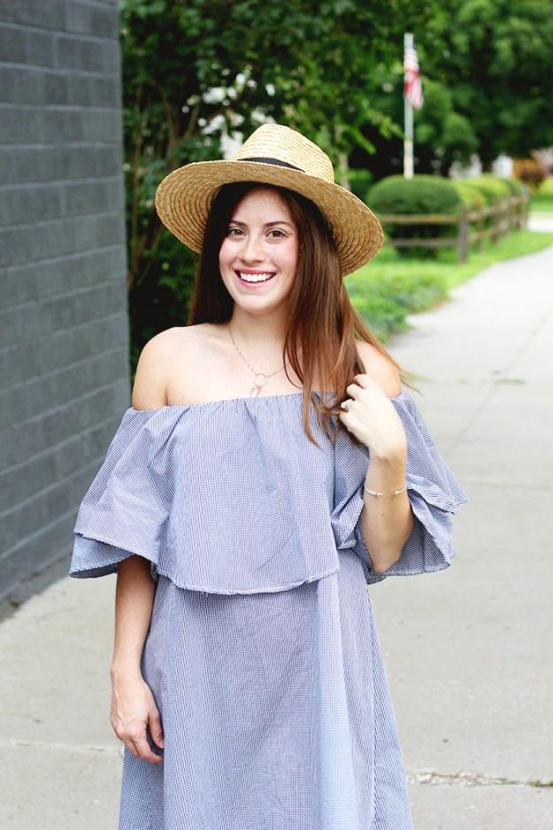 The Brunette One_Off The Shoulder Dress_5