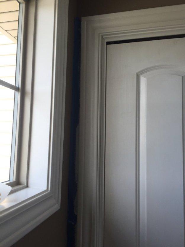 Taupe Wall White Kitchen