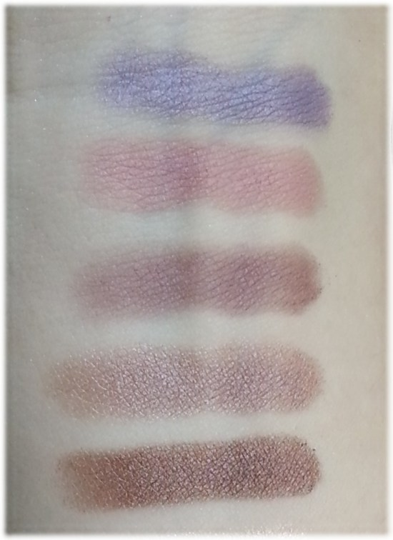 Burberry Sheer Eyeshadow swatches 1