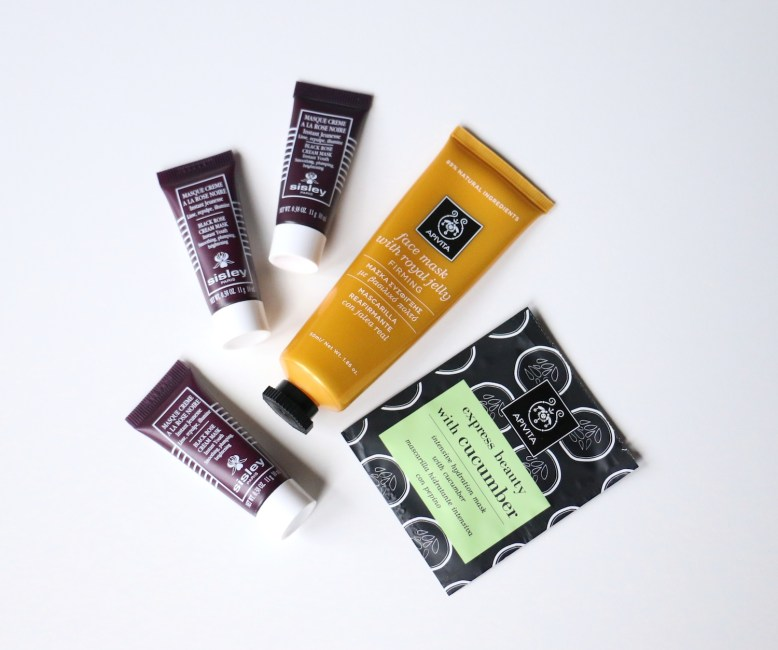 Sisley Black Rose, Apivita Royal Jelly, Apivita Cucumber