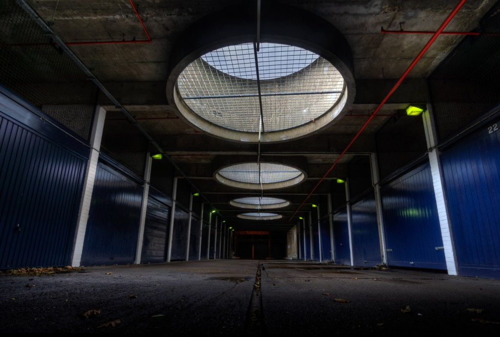 A Brutalist Garage underneath The Barbican