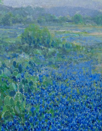 Texas Hill Country Scene with Bluebonnets, Julian Onderdonk, n.d.