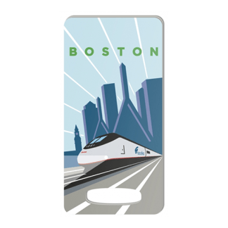Amtrak Acela Boston Luggage Tag