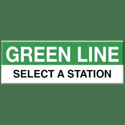 Green Line Station Magnet (Select a Station)