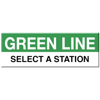 Green Line Station Magnet (Select a Station)