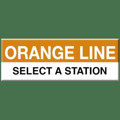 Orange Line Magnet (Select Station)