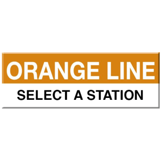 Orange Line Magnet (Select Station)