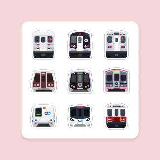 Urban Rail of America Magnet Sheet