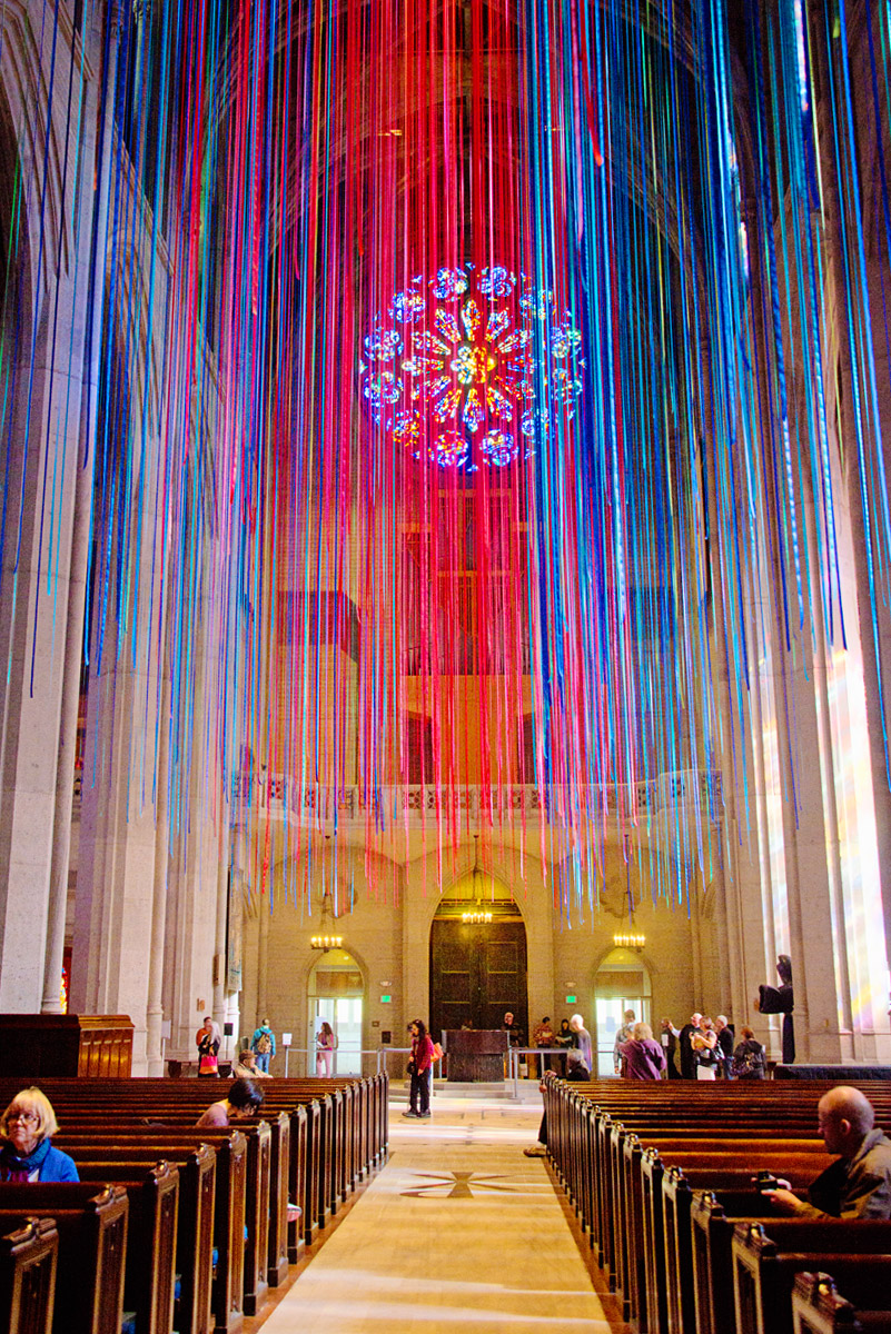 """Graced With Light"" at Grace Cathedral, San Francisco"