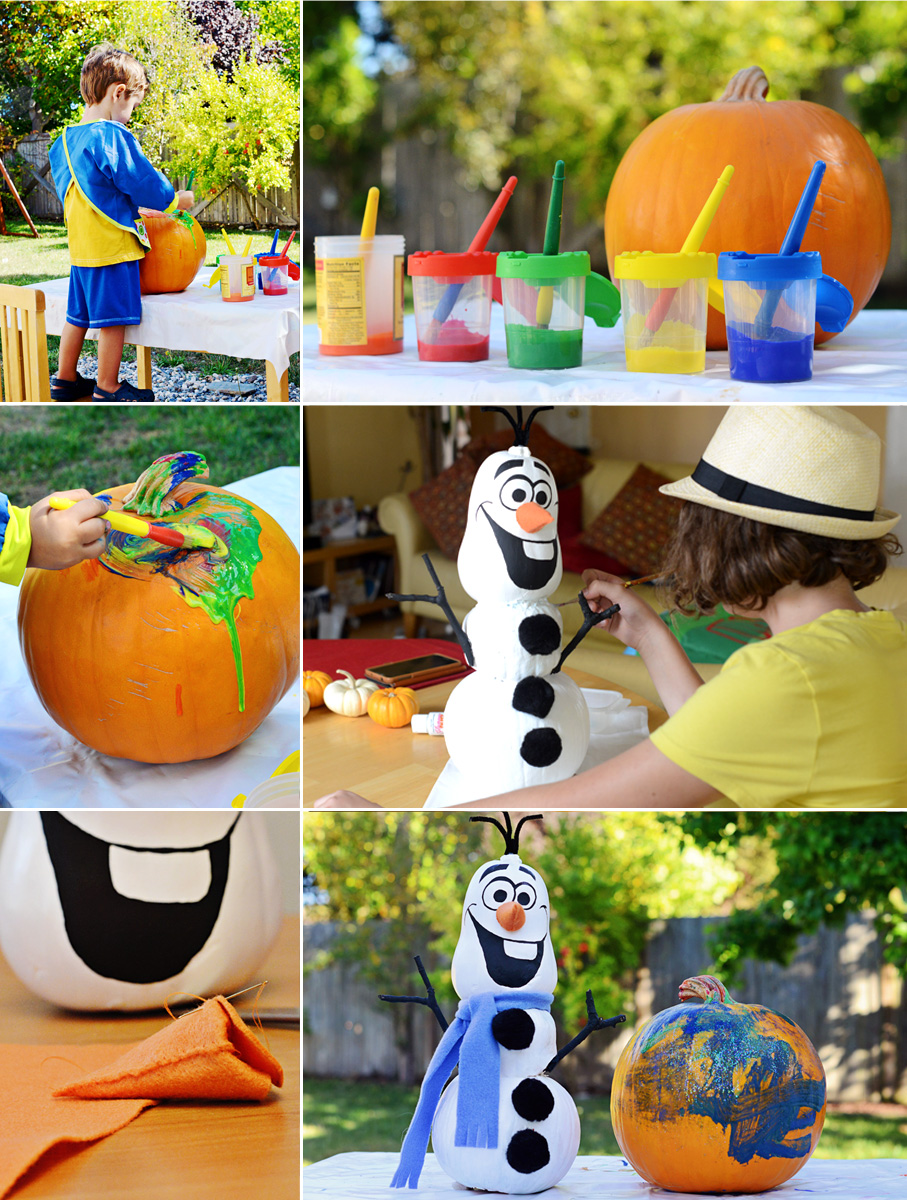 Fall Fun, Painting Pumpkins | The Bubbly Bay