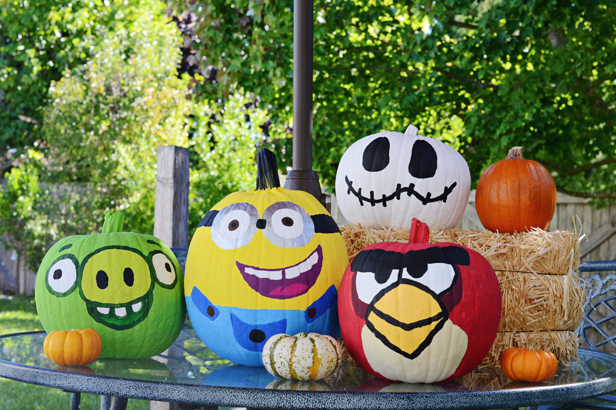 Fall Fun Painting Pumpkins The Bubbly Bay