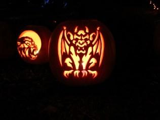 Halloween pumpkin carving at Ottawa Lake campground