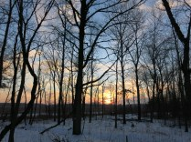 Sunset over the Scuppernong River Habitat Area