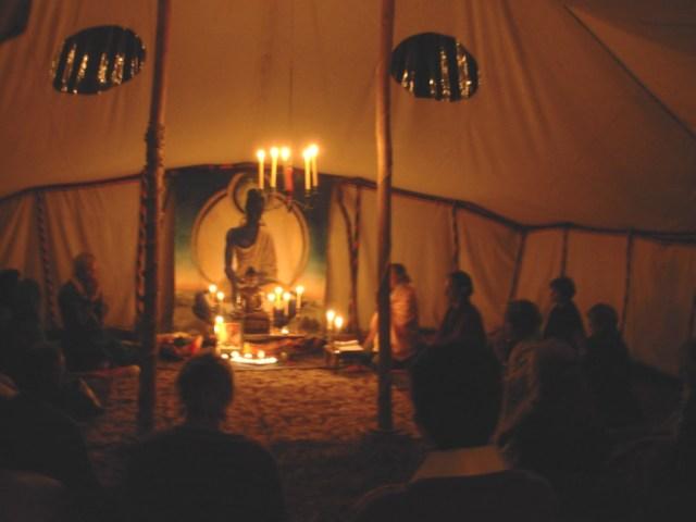 The Meditation Yurt | The Buddhist Centre