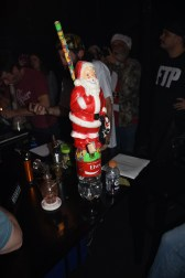 One of the entries for the Ugliest Bong Contest. It lit up and was put together with duct tape!