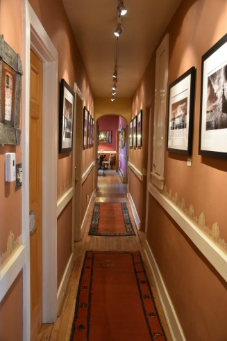 Gorgeous hallway at El Paradero. All art is for sale.
