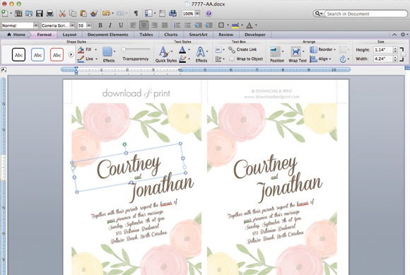 Free Printable Wedding Invitation Templates For Word And Get Ideas How To Make The Look Adorable 8