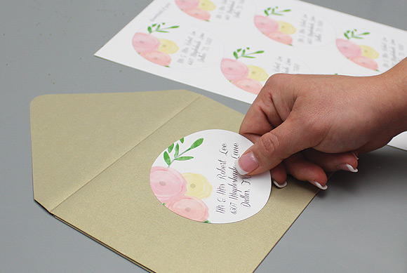 Garden Bouquet Printable Wedding Invitation Template Step10c Stick