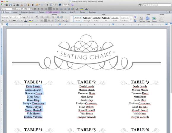 Elegant DIY Table Numbers + Seating Chart