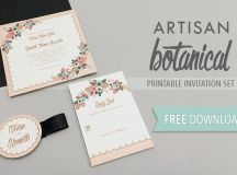 Free Delicate Floral Wedding Invitation Suite | The Budget ...