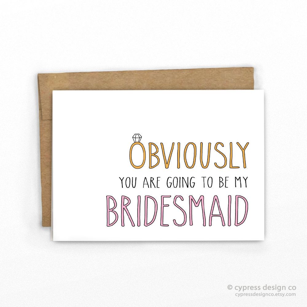Etsy Love Clever Bridesmaid Proposal Cards The Budget