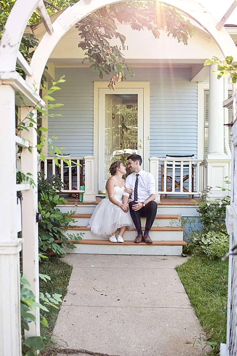 Intimate Wedding at Home  The Budget Savvy Bride