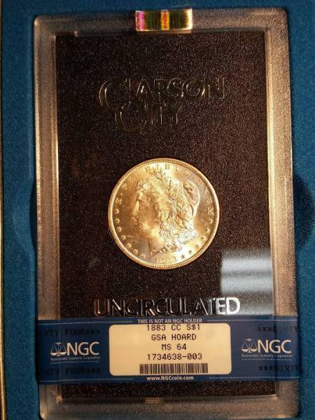 1883 cc Morgan Dollar MS64