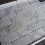Calacatta 3 6 Subway Tile Marble The Builder Depot Blog