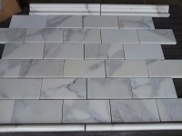 calacatta subway tile