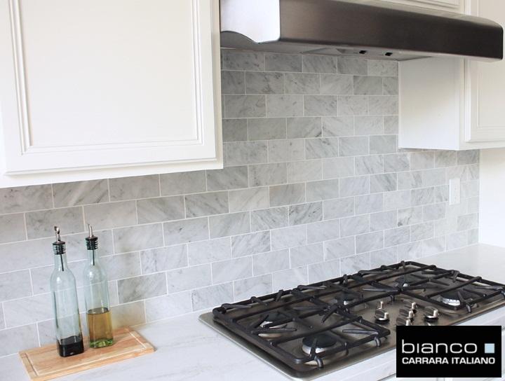 Carrara Bianco 36 Kitchen Backsplash
