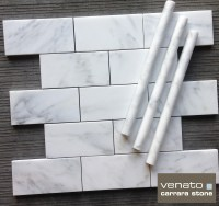 White Marble Subway Tile