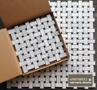Carrara Venato Basketweave Honed Tile | the builder depot blog
