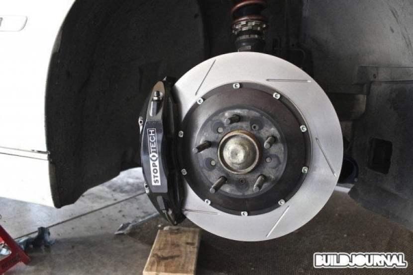 StopTech Street Performance brake pads and Aero Rotors Install - BuildJournal